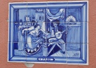 Glazed tiles in Alfama Original painting Jos Malhoa O Fado 1910