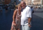 A couple of our guests at Piazza navona after one of ours tiresome tours