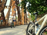 Long Bien Bridge with Bike2