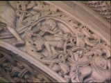 detail of one of the doors of the Duomo in Modena